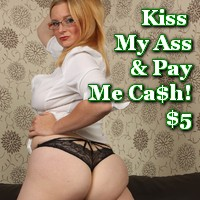 paypig ass kissing